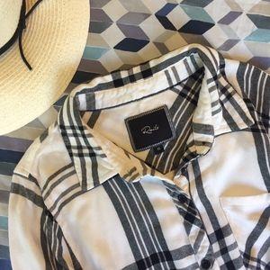 Rails Hunter plaid button-down shirt - XS